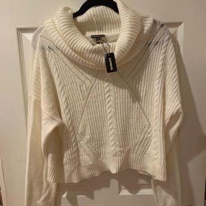 White Express Crop Sweater